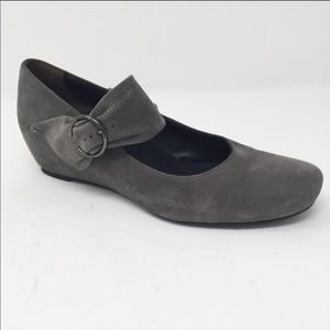 Paul Green grey suede hidden wedges